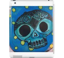Cool Blue Love Skull Wins! iPad Case/Skin
