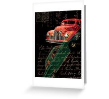 Dark Car Greeting Card