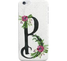Letter B with Floral Wreaths iPhone Case/Skin