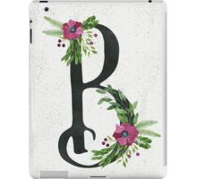 Letter B with Floral Wreaths iPad Case/Skin