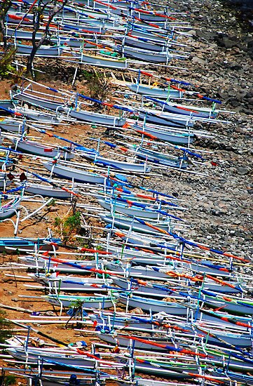 fishing boats on the lost coast by Michael Brewer