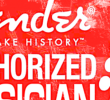 Authorized Musician Sticker