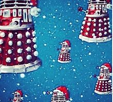 Christmas style Doctor who Daleks  by Katie358