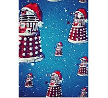 Christmas style Doctor who Daleks  Photographic Print
