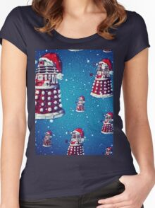 Christmas style Doctor who Daleks  Women's Fitted Scoop T-Shirt