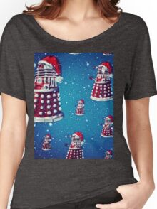 Christmas style Doctor who Daleks  Women's Relaxed Fit T-Shirt
