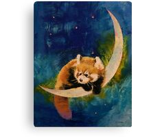 Red Panda Moon Canvas Print