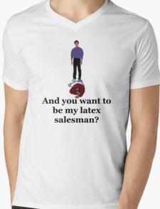 Seinfeld's Latex Salesman Mens V-Neck T-Shirt