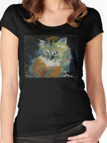 Himalayan Cat Women's Fitted Scoop T-Shirt