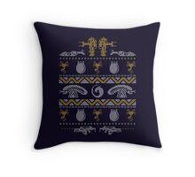 A Christmas Bug Hunt Throw Pillow