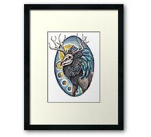 Undead Deer Framed Print