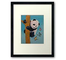 Panda Butterflies Framed Print