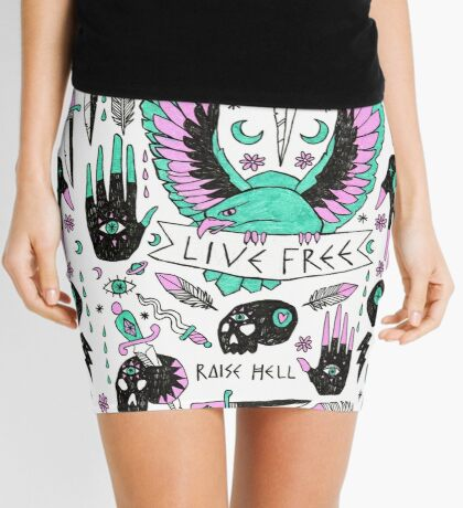 Live Free Mini Skirt