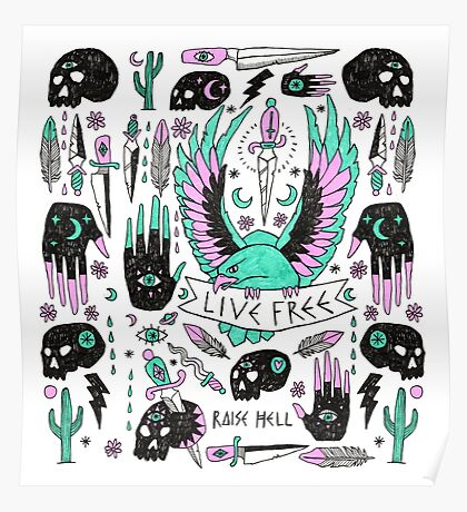 Live Free Poster