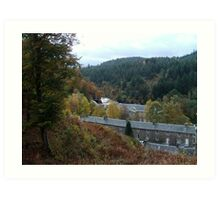 A View of New Lanark Mill, Scotland Art Print