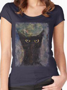 Ninja Cat Women's Fitted Scoop T-Shirt