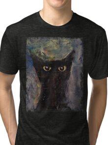 Ninja Cat Tri-blend T-Shirt