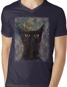 Ninja Cat Mens V-Neck T-Shirt