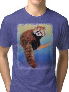 Cute Red Panda Tri-blend T-Shirt