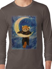 Red Panda Stars Long Sleeve T-Shirt