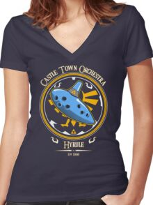 Castle Town Orchestra Women's Fitted V-Neck T-Shirt