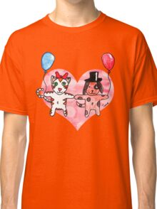 Kitty Loves Puppy by Tane (10) Classic T-Shirt