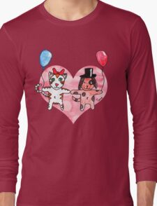 Kitty Loves Puppy by Tane (10) Long Sleeve T-Shirt