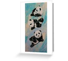 Panda Karate Greeting Card