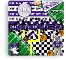 NORTHWESTERN UNIVERSITY COLLAGE Canvas Print