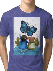 Butterfly Kite Tri-blend T-Shirt