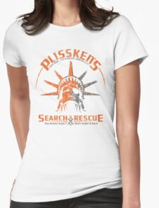 Snake Plissken's  Search & Rescue Pty Ltd Womens Fitted T-Shirt