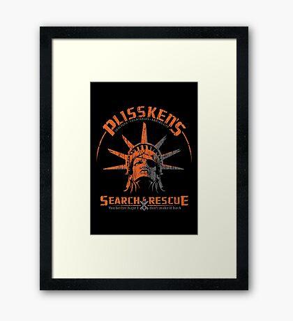 Snake Plissken's  Search & Rescue Pty Ltd Framed Print