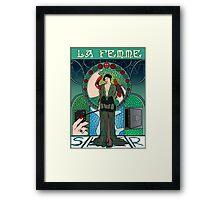 Sherlock Nouveau: Irene Adler Framed Print
