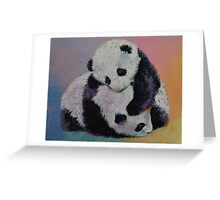 Baby Panda Rumble Greeting Card