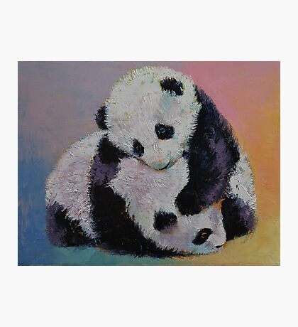 Baby Panda Rumble Photographic Print