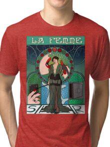 Sherlock Nouveau: Irene Adler Tri-blend T-Shirt