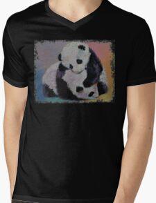 Baby Panda Rumble Mens V-Neck T-Shirt