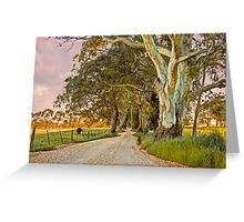 Country Road II - Monkhouse Rd, Woodside, The Adelaide Hills Greeting Card