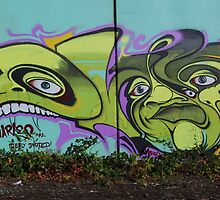 Faces on the Wall by niba