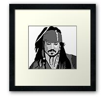 Johnny Depp Pirates of the caribbean design Framed Print