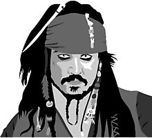 Johnny Depp Pirates of the caribbean design Photographic Print