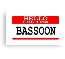 Bassoon Canvas Print