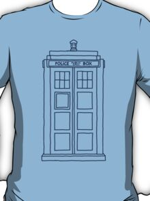 """Hello, my name's Sexy."" (TARDIS Blue) T-Shirt"