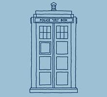 """Hello, my name's Sexy."" (TARDIS Blue) Unisex T-Shirt"