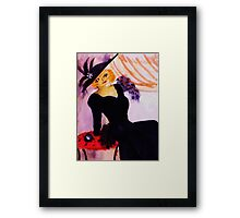 Mae West, watercolor Framed Print