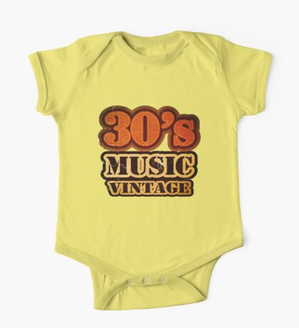 30's Music Vintage T-Shirt One Piece - Short Sleeve