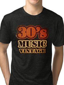 30's Music Vintage T-Shirt Tri-blend T-Shirt