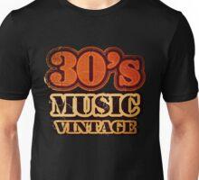 30's Music Vintage T-Shirt Unisex T-Shirt