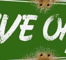 Live Oak Market - South Austin, Texas (street sign) Sticker