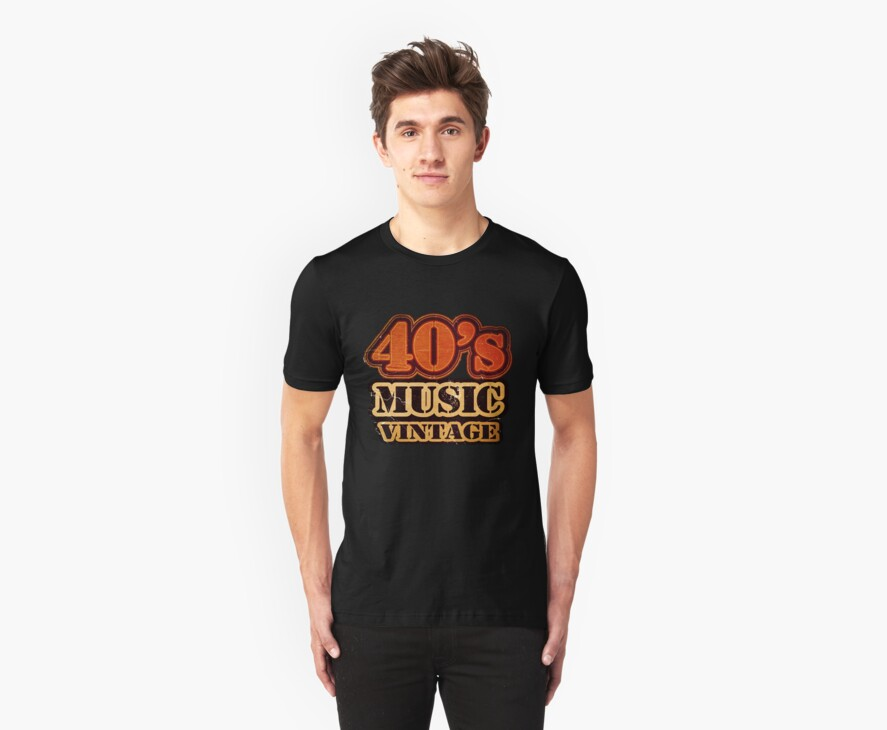 40's Music Vintage T-Shirt by Nhan Ngo